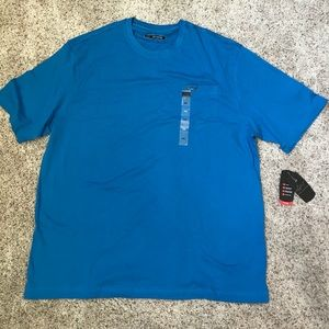 Greg Norman blue 100% cotton tee shirt